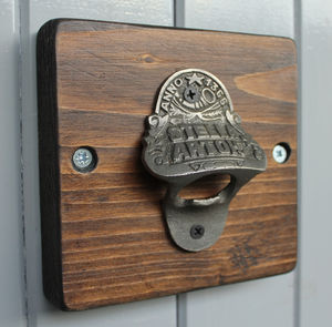 Reclaimed Wooden Beer Bottle Opener - gifts for foodies