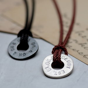 Personalised Men's Polo Pendant - necklaces