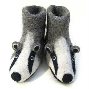 Adults Felt Badger Slippers - shoes