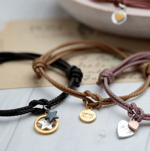 Personalised Love Knot Bracelets - celestial jewellery