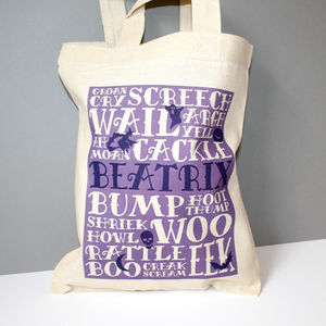 Personalised Halloween 'Noises' Trick Or Treat Bag