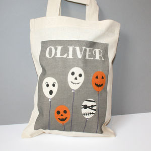 Personalised Halloween 'Balloons' Trick Or Treat Bag