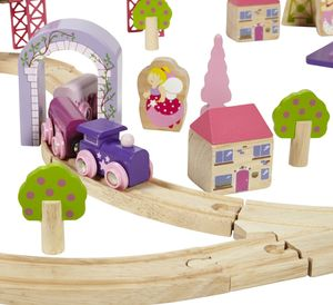 Giant Fairy Town Pink Train Set - educational toys