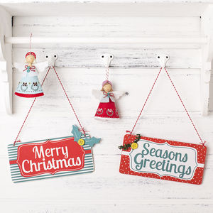 Vintage Style Christmas Sign - decorative accessories
