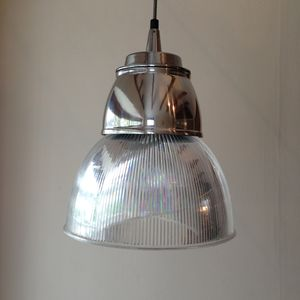 Large Refurbished Vintage Industrial Pendant Light - shop by price