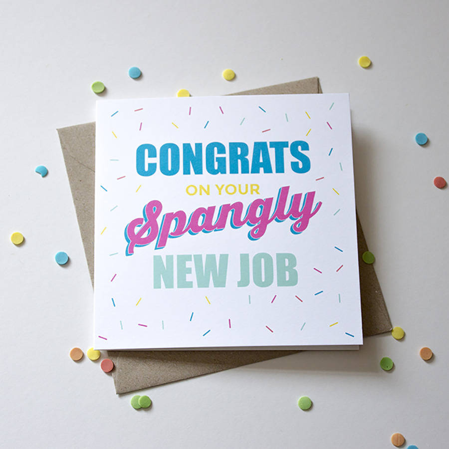 Congratulations On Your New Job Card Geccetackletarts