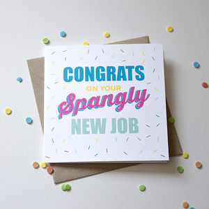 'Congrats On Your Spangly New Job' Card - shop by category