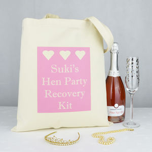 Personalised 'Hen Party Recovery Kit' Bag