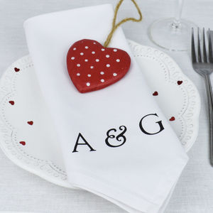 Pair Of Personalised 'Initial' Napkins