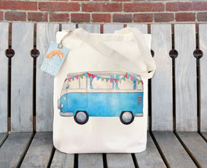 Campervan Cotton Tote Bag - womens