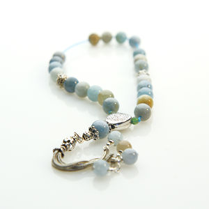 Aquamarine Worry Beads - men's jewellery
