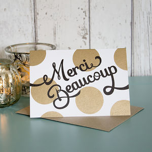 'Merci Beaucoup' Card - shop by category
