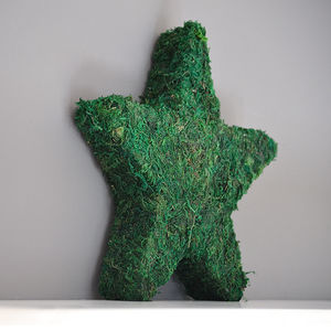 Real Moss Star Decoration - christmas home accessories