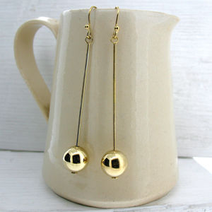 Gold Vermeil Bauble Earrings - earrings