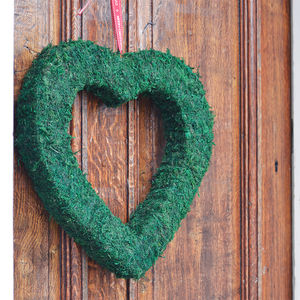 Large Real Moss Decorative Heart