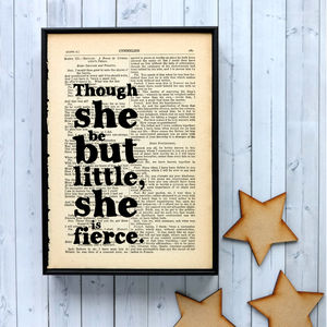 Shakespeare Literary Quote Art Print - free delivery gifts