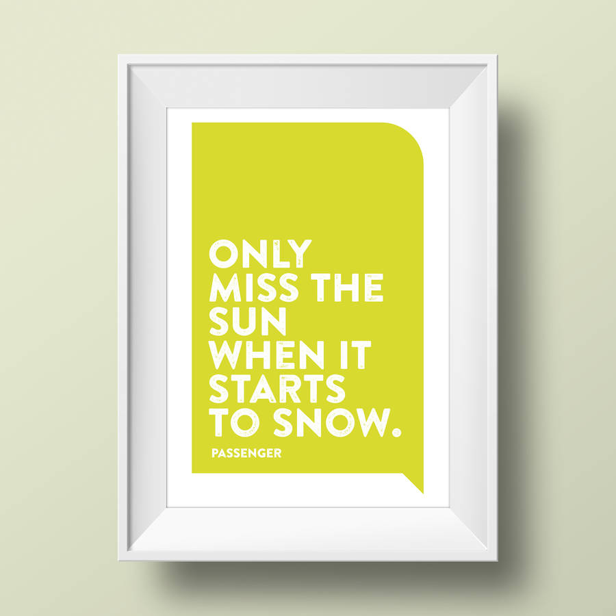 personalised favourite song lyrics print by a is for alphabet ...