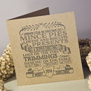 Wordie Pack Of Xmas Personalised Cards Or A4 Print