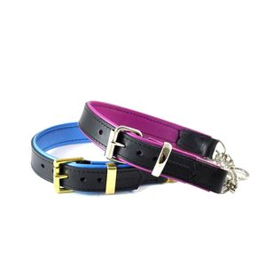 Padded Leather Adjustable Half Check Collar - walking