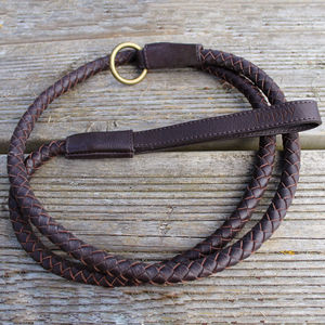 Personalised Leather Dog Lead - walking
