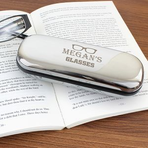 Personalised 'Glasses Motif' Glasses Case