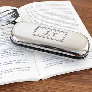 Monogrammed Glasses Case