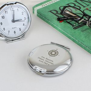 'Compass' Design Personalised Travel Clock - clocks