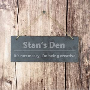 Personalised Slate Door Plaque - gifts for him