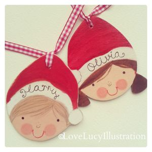 Personalised Santa Hat Decoration - cards & wrap