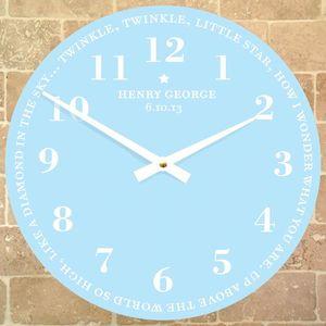 Personalised Nursery Rhyme Clock - bedroom
