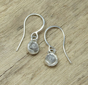 Rough Diamond Earrings - earrings