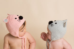 Hand Crochet Mouse Hat - babies' hats