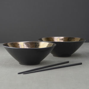 Bronze Glaze Ceramic Noodle Bowl - tableware