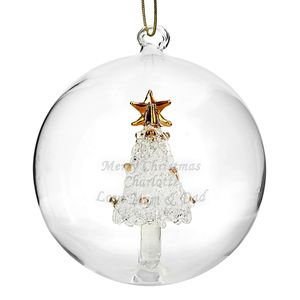 Personalised Glass Bauble Tree, Angel Or Reindeer - view all decorations