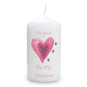 Be My Valentine Personalised Candle - candles & candlesticks