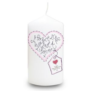 A Perfect Love Will Last A Lifetime Personalised Candle - candles & candlesticks