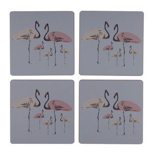 Flamingo Party Everyday Coaster Set Of Four - baby care