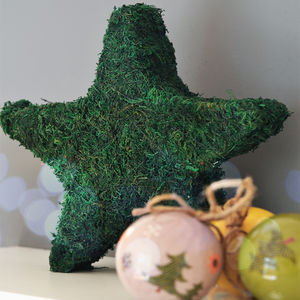 Real Moss Christmas Star Decoration