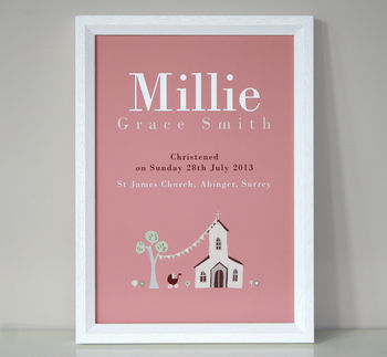 Personalised Christening Or Baptism Print