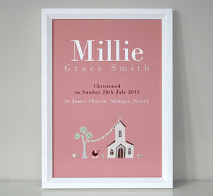 Personalised Christening Or Baptism Print - view all sale items