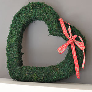 Large Valentine Real Moss Hanging Heart