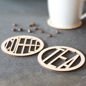 Tea And Coffee Wooden Coasters