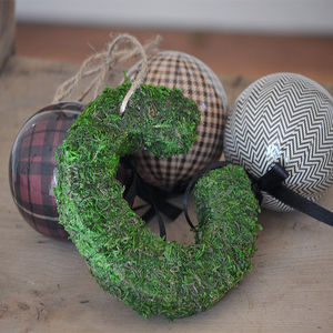 Personalised Real Moss Christmas Decoration - weddings sale