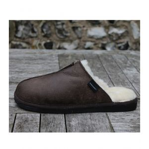 Aspiga Hugo Men's Oiled Antique Sheepskin Slippers