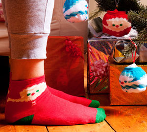 Santa Socks - christmas parties & entertaining