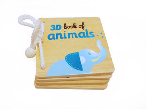 Wooden Safari Book - baby toys