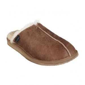 Aspiga Hugo Men's Chestnut Sheepskin Slippers - men's fashion