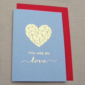 'You Are My Love' Gold Foil Card