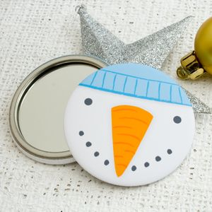 Snowman Pocket Mirror And Mini Card - cards & wrap