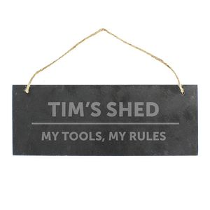 Shed Slate Personalised Sign - personalised
